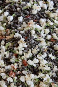 Foto: mistura de flores de jasmim a pérolas de chá verde, in HojoTea.com