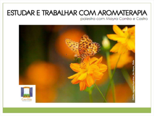 Trabalhar Aromaterapia Slides
