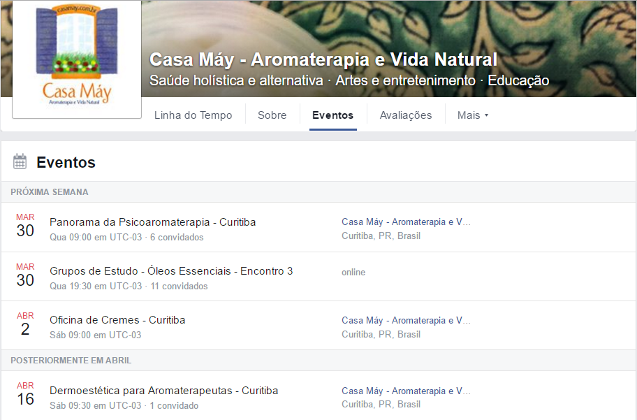 Feed Eventos FanPage