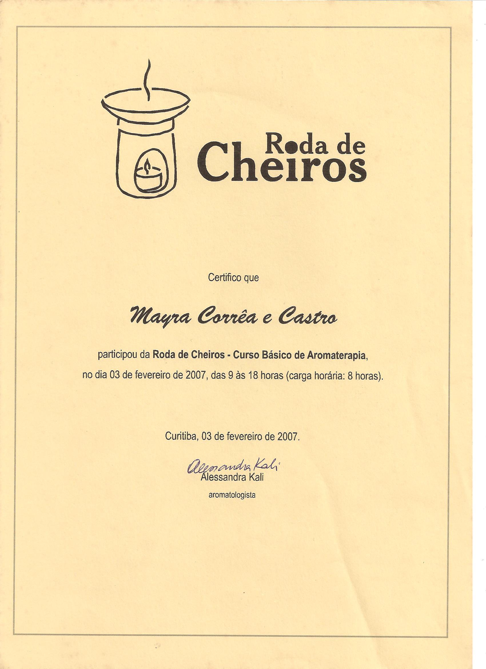 primeiro certificado