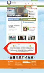 seção depoimentos homepage